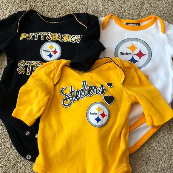 8aa6b251 Steelers Baby Girl 0-3 Long Sleeve Onesie. M_5b3fd23ec617773a6abfe7b1